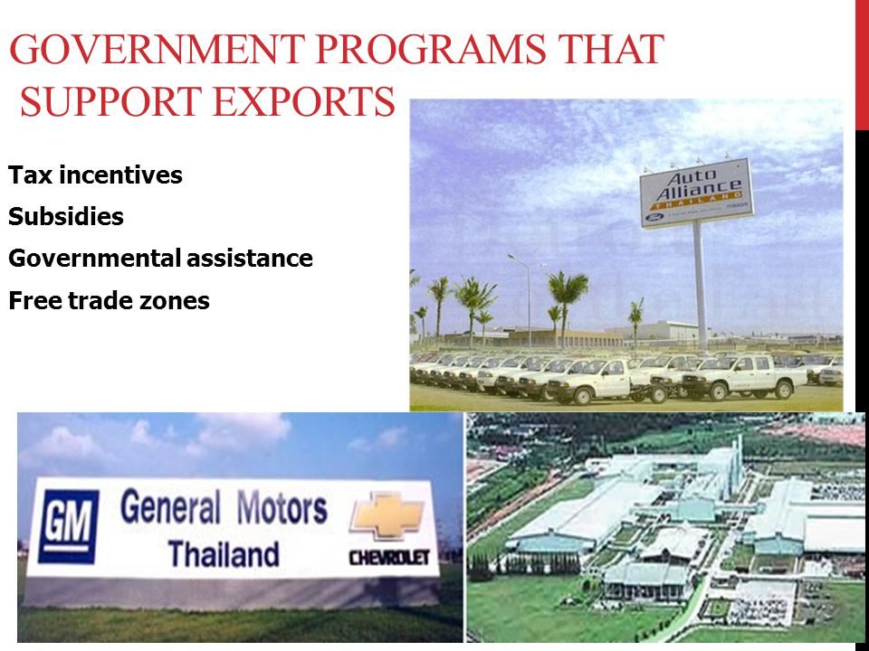 Government Programs that Support Exports