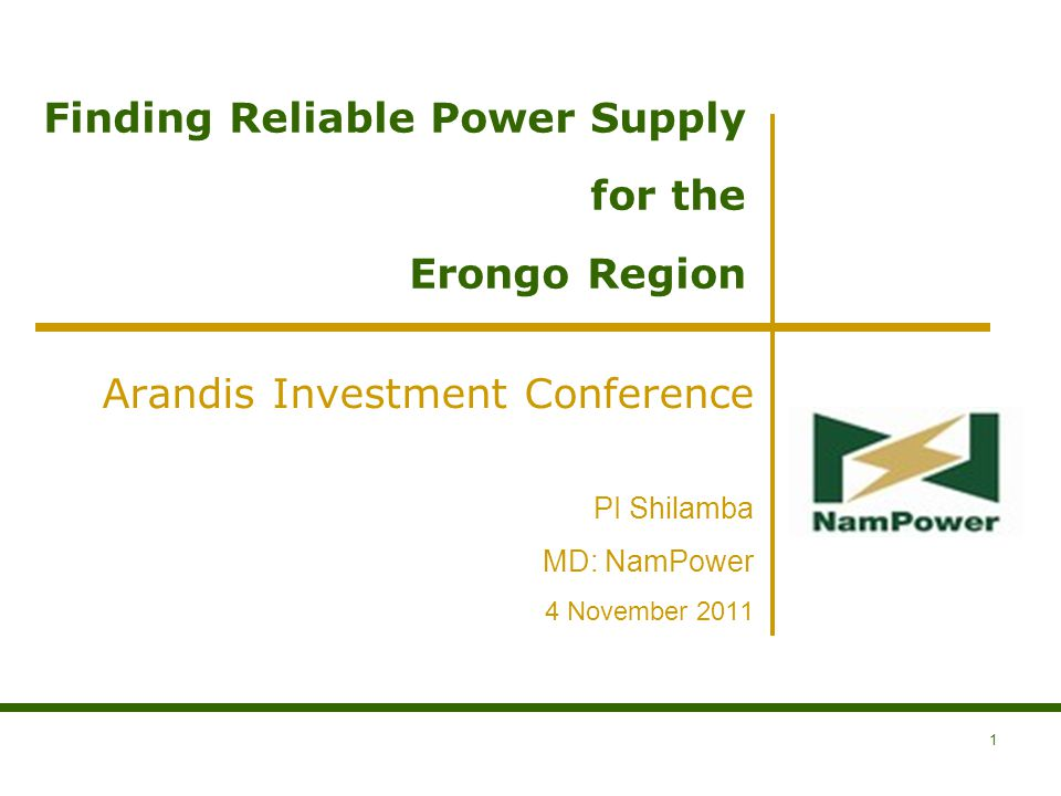 Finding Reliable Power Supply for the Erongo Region