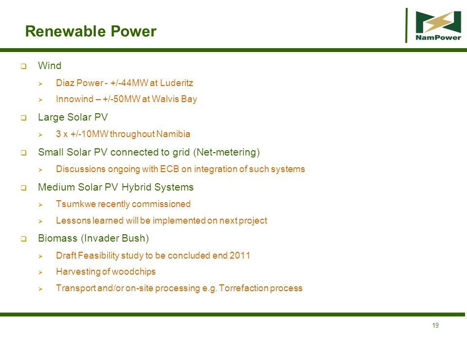 Renewable Power Wind Large Solar PV