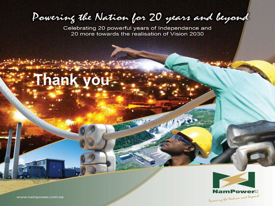 Thank you NAMPOWER