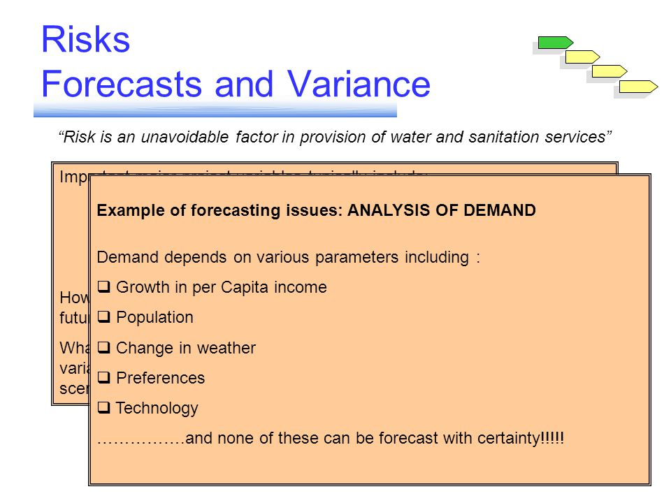 Risks Forecasts and Variance
