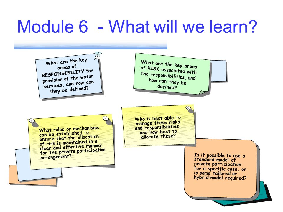 Module 6 - What will we learn