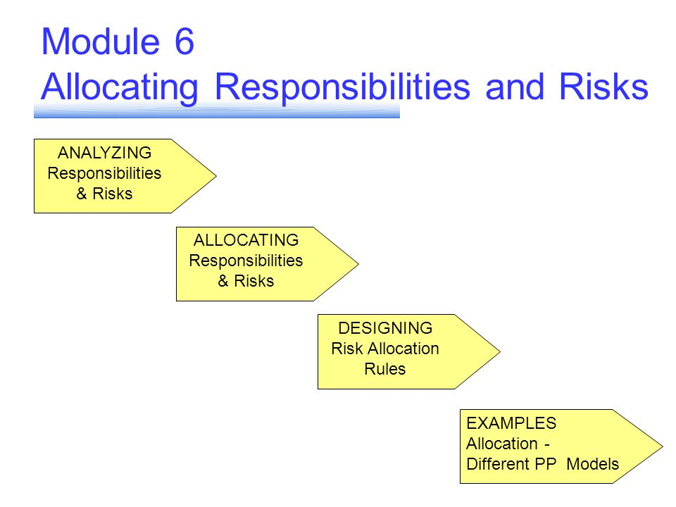 Module 6 Allocating Responsibilities and Risks