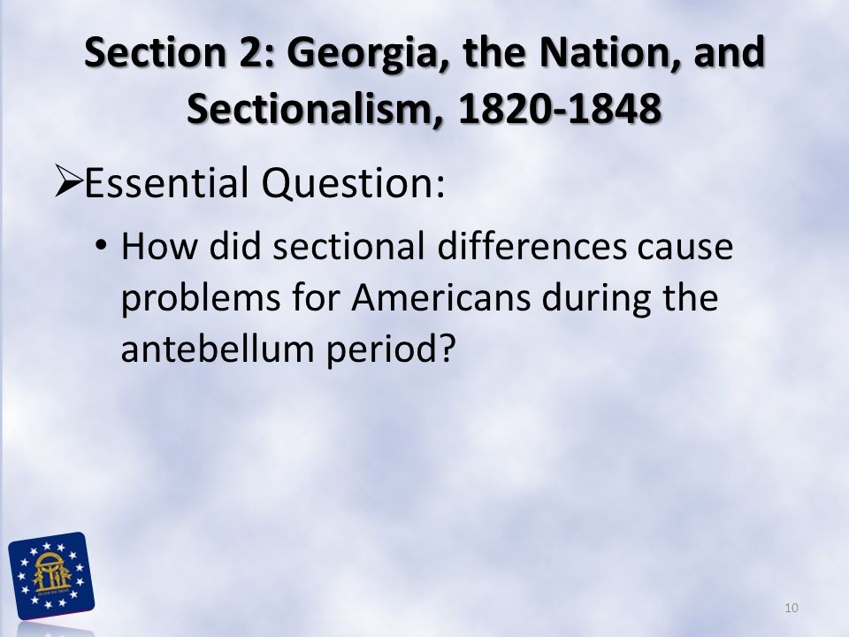 nationalism and sectionalism in america during Now america could finally become independent economically and the tariff would help because during the war of 1812 british merchants brought a great deal.