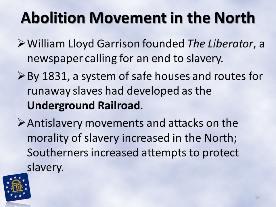Abolition Movement in the North