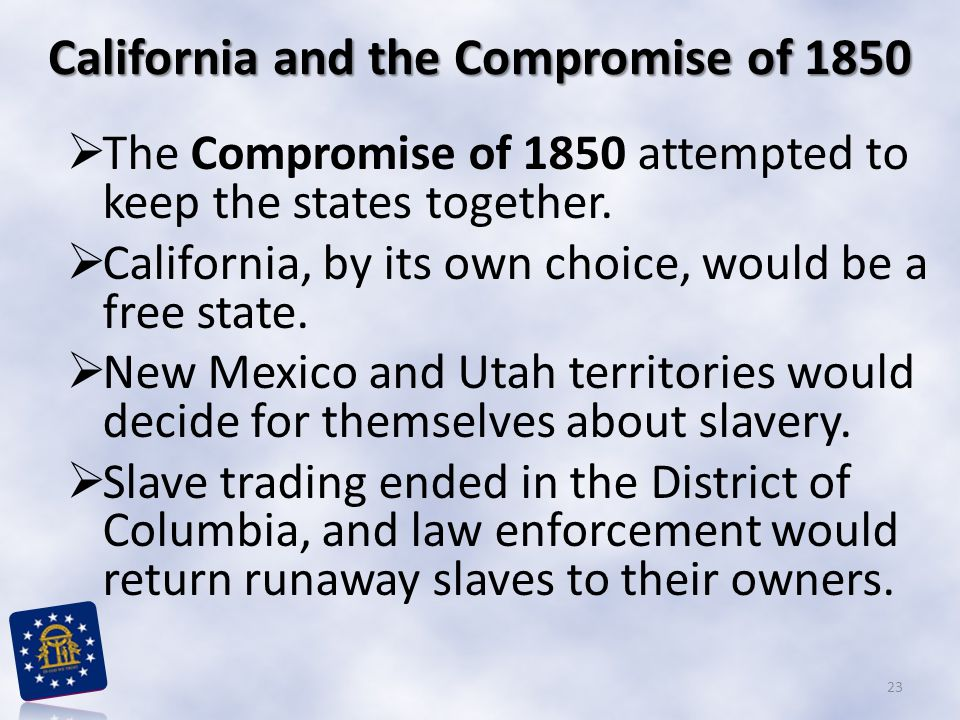 California and the Compromise of 1850