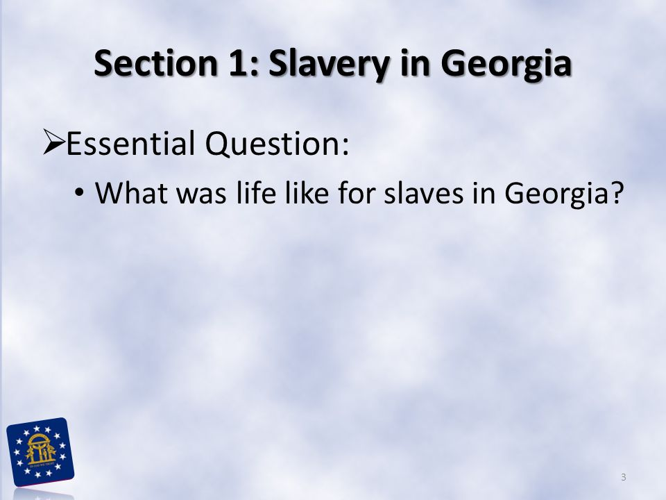 Section 1: Slavery in Georgia