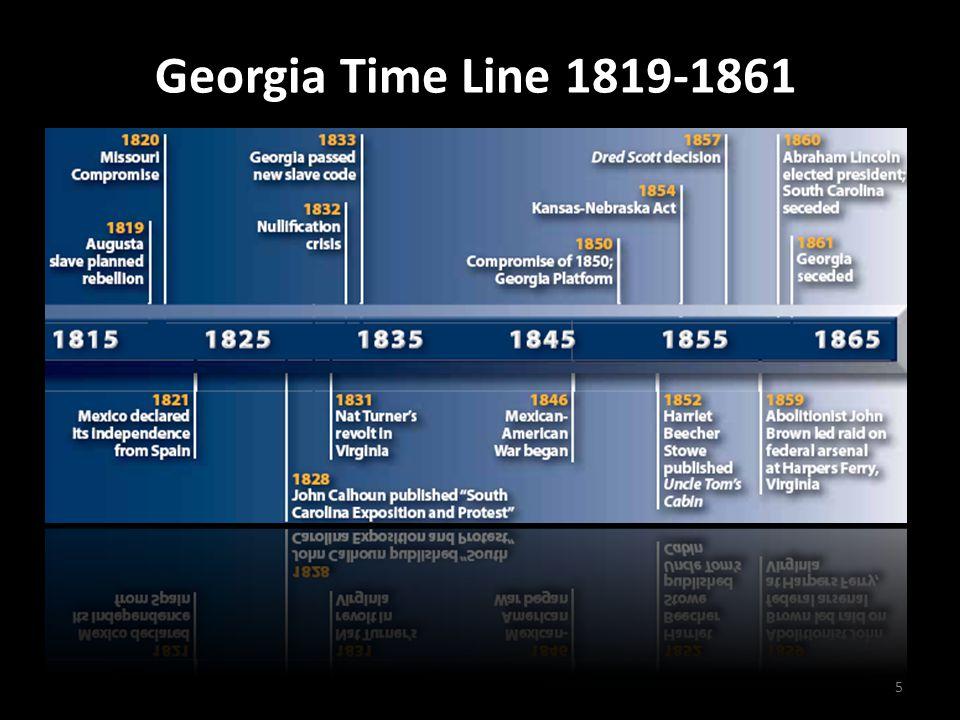 Georgia Time Line 1819-1861