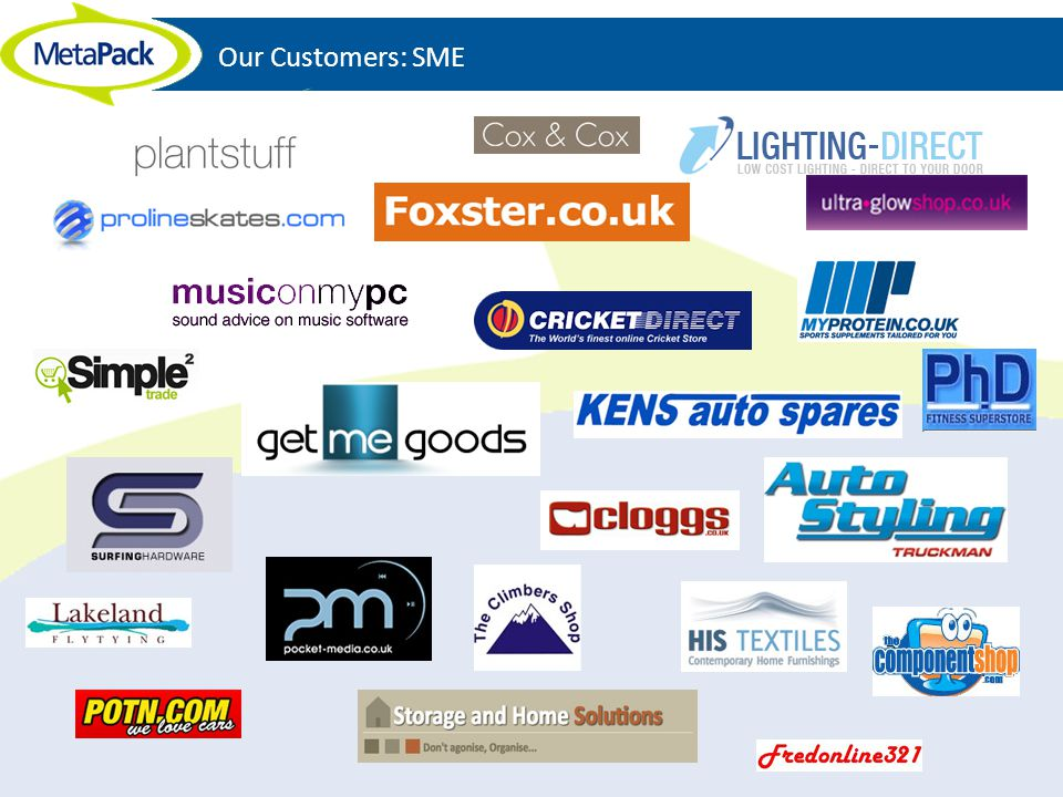 Our Customers: SME