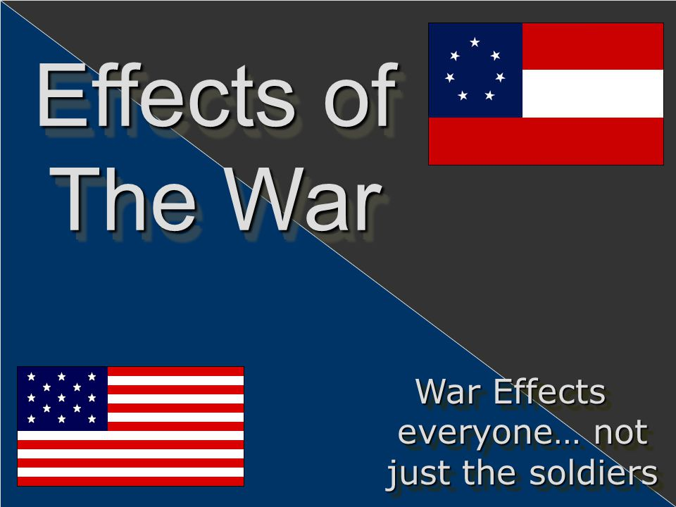 War Effects everyone… not just the soldiers