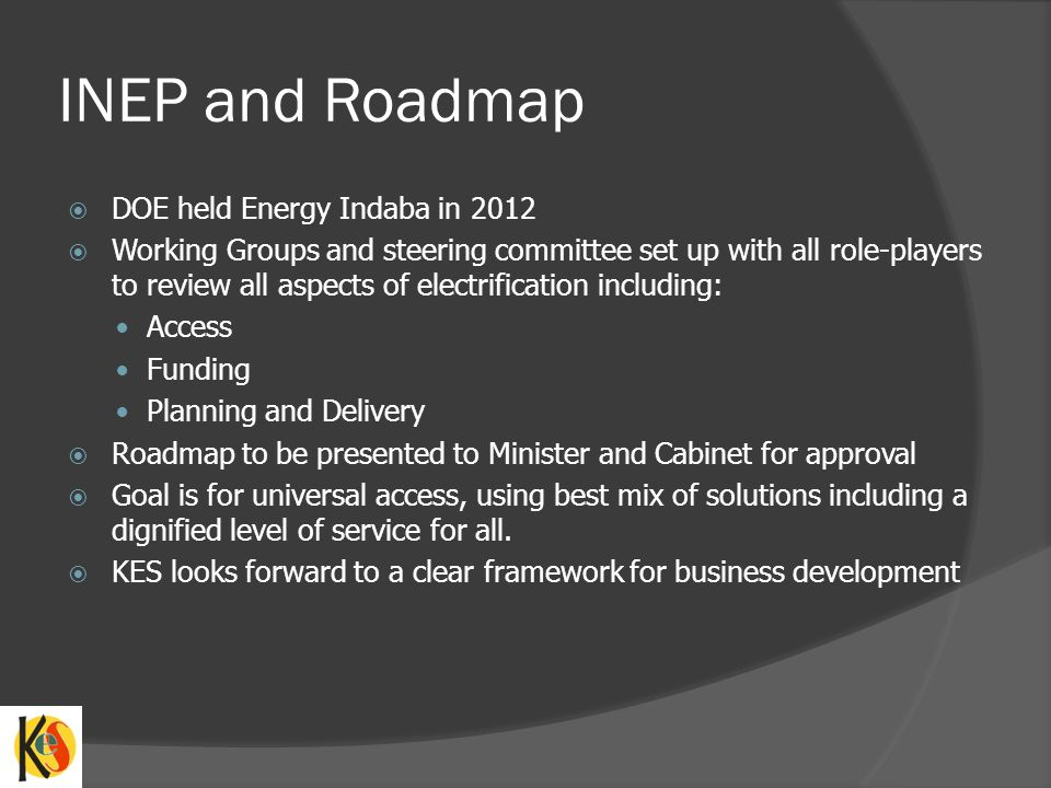 INEP and Roadmap DOE held Energy Indaba in 2012
