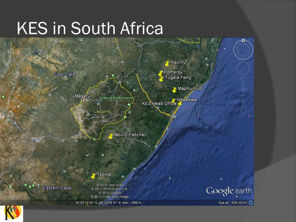 KES in South Africa This slide indicates where all our Energy Stores are located.
