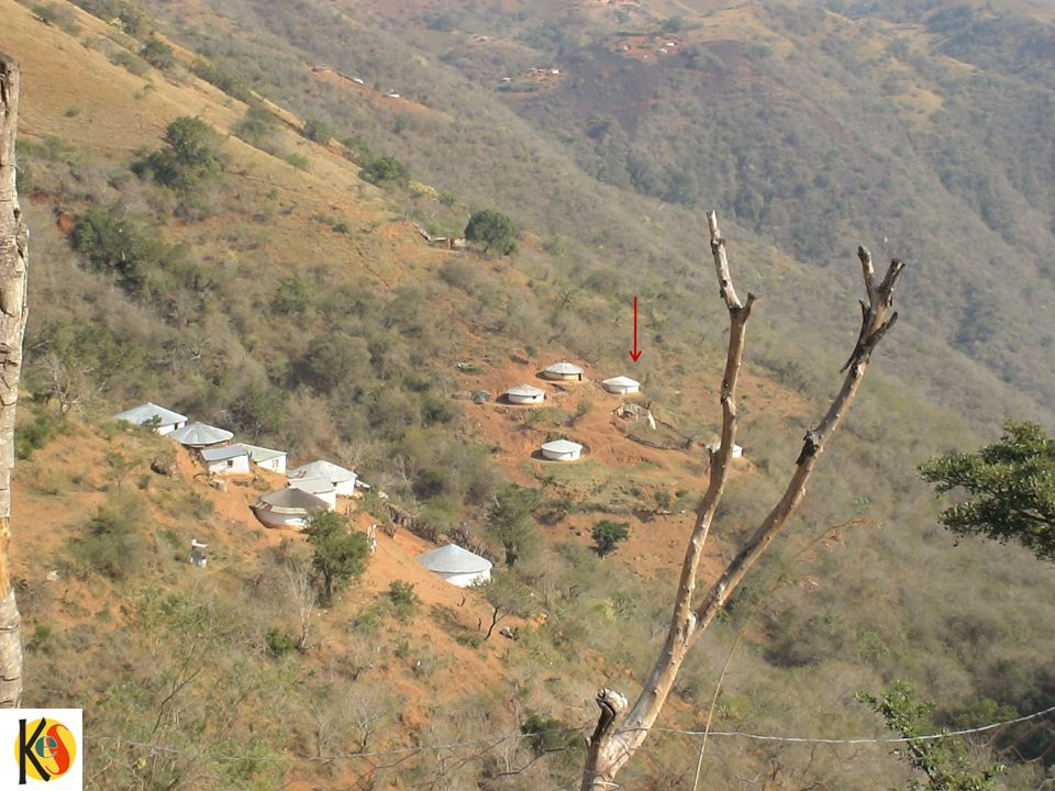 To give you an idea of the remoteness of our houses – here is one of our customers in the Valley of a Thousand hills in Maphumulo.