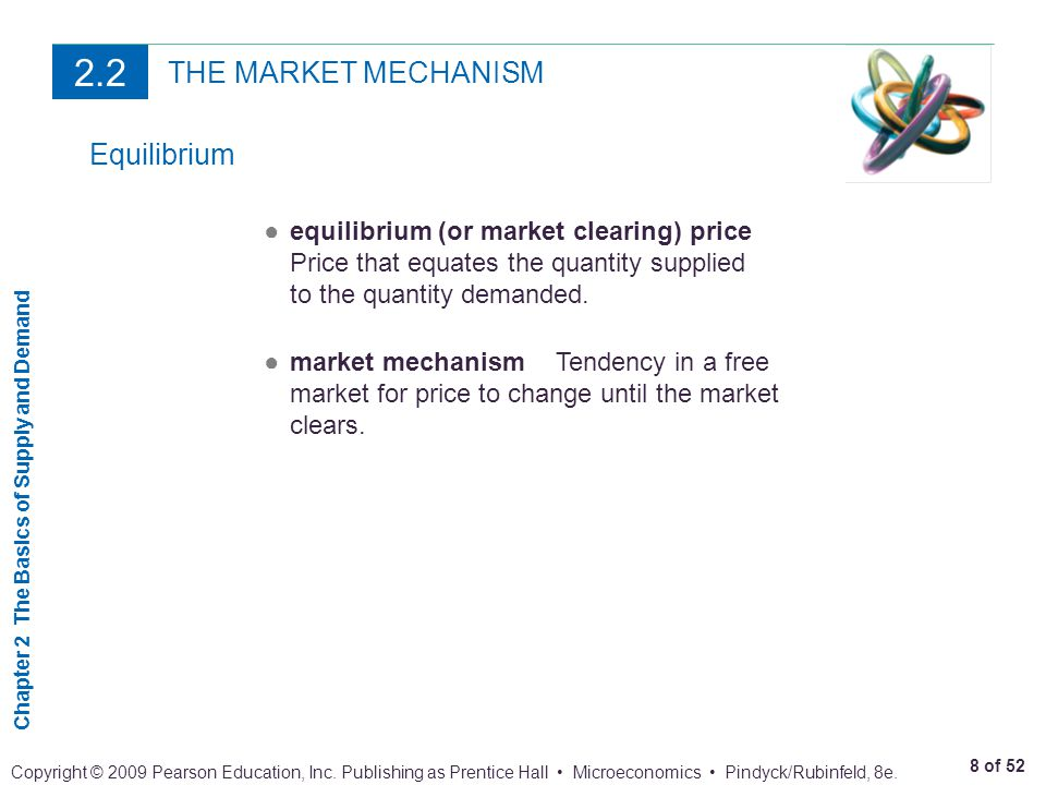2.2 THE MARKET MECHANISM Equilibrium