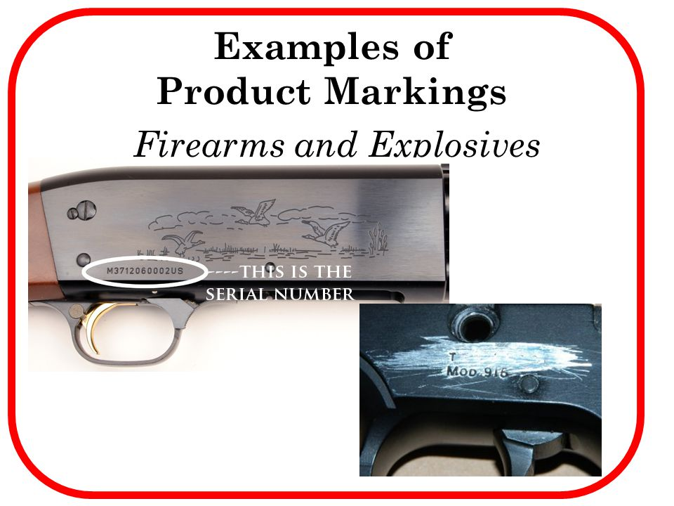 Examples of Product Markings
