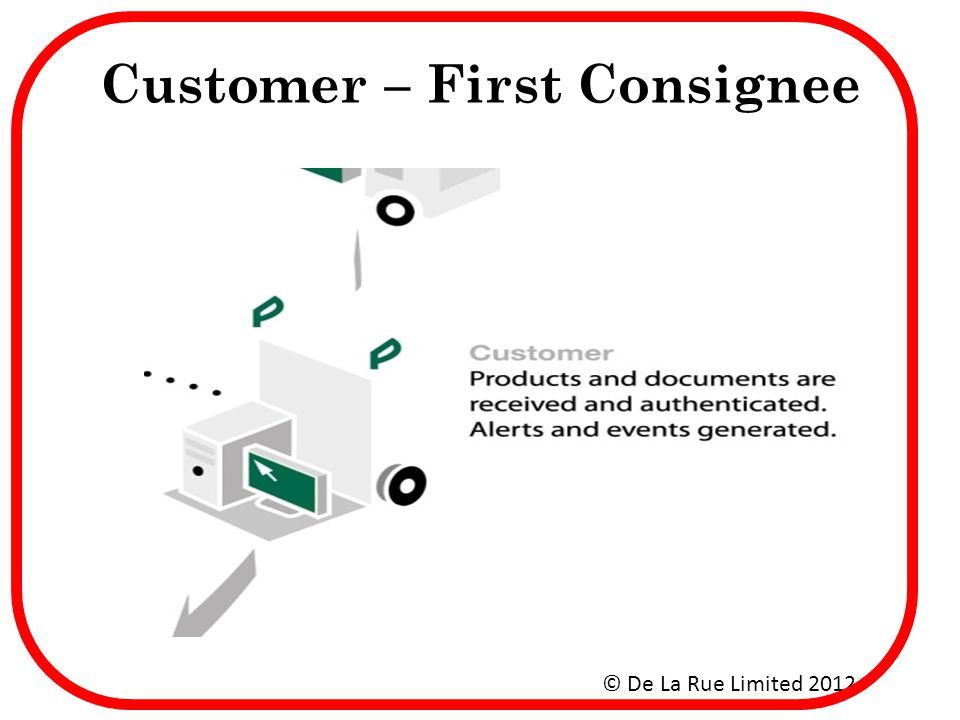 Customer – First Consignee
