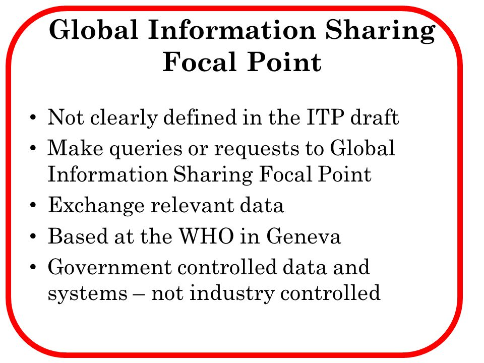 Global Information Sharing Focal Point