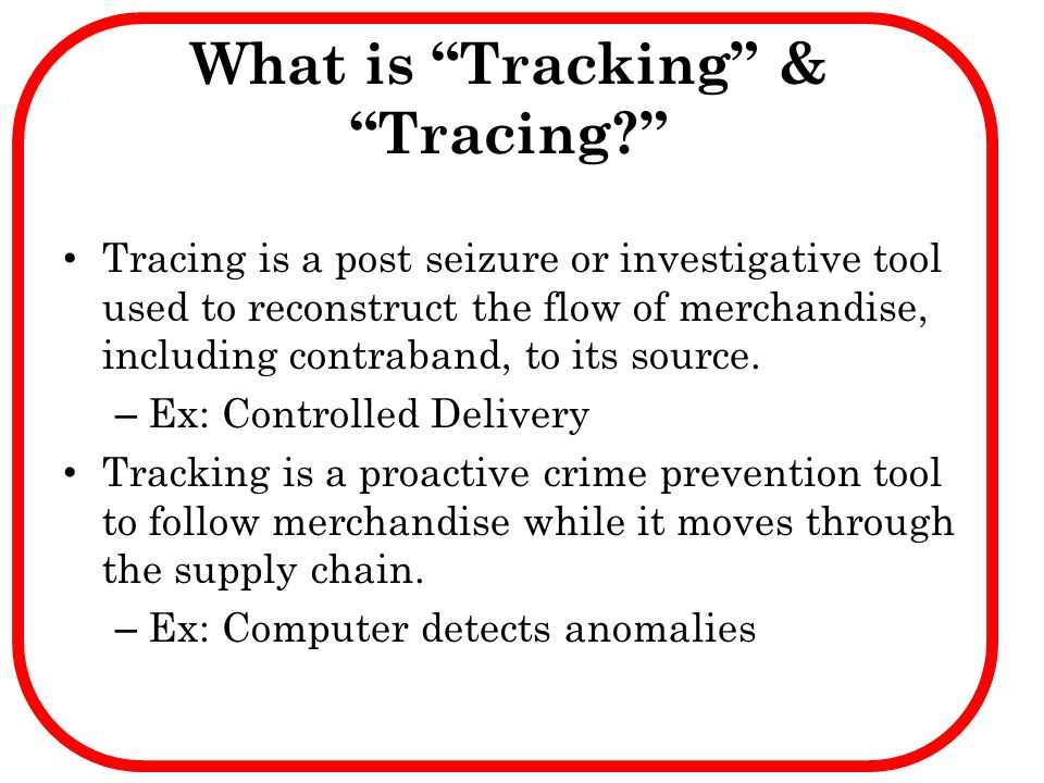 What is Tracking & Tracing