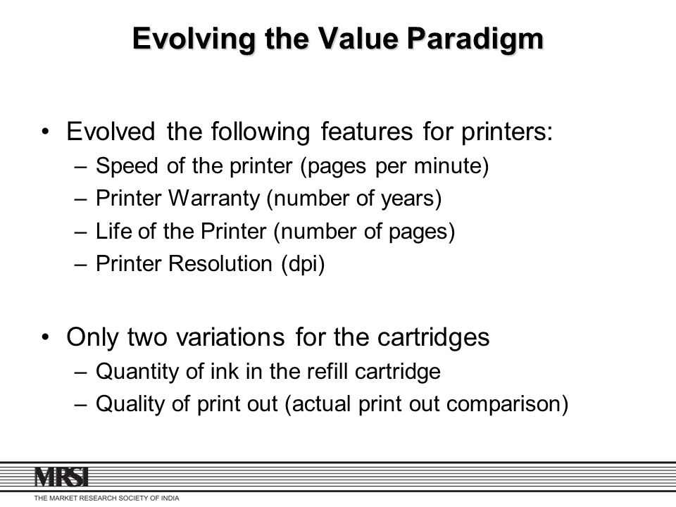 Evolving the Value Paradigm