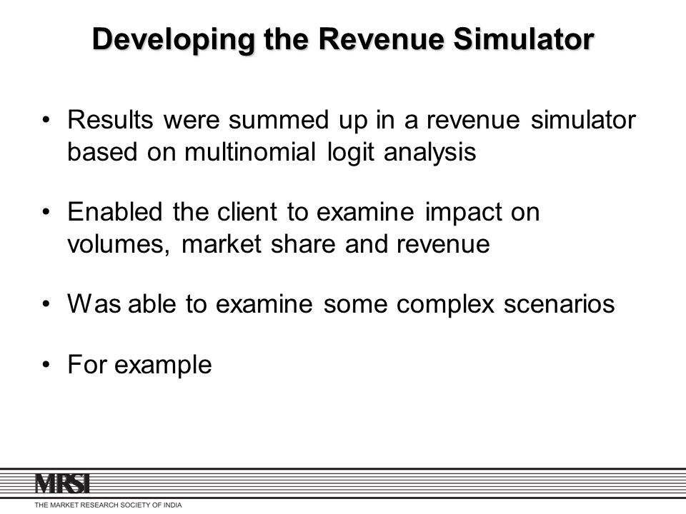 Developing the Revenue Simulator