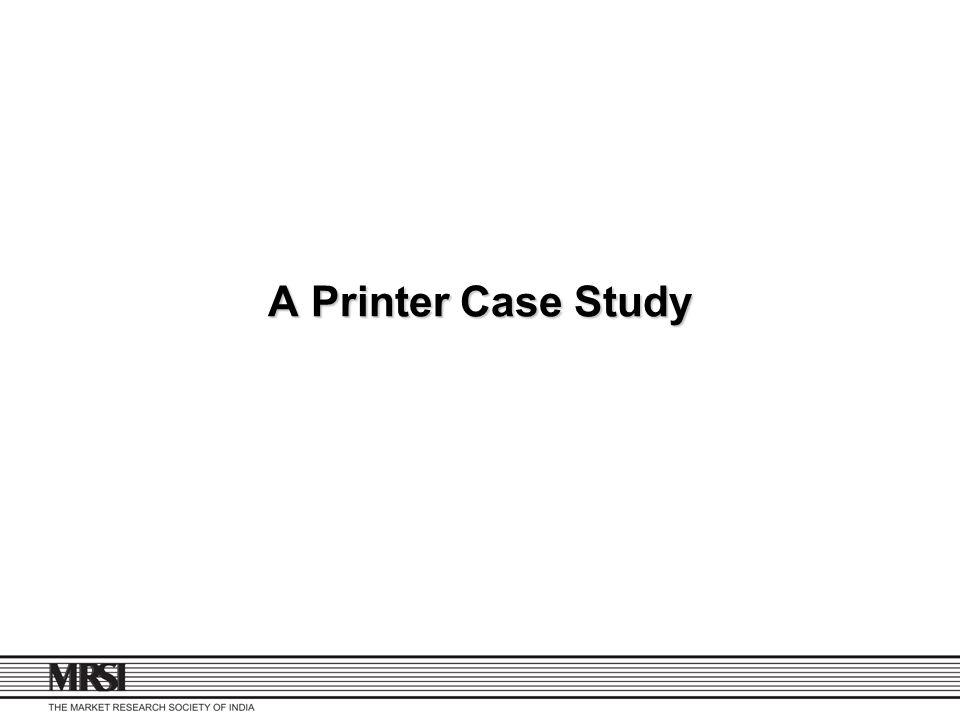 A Printer Case Study