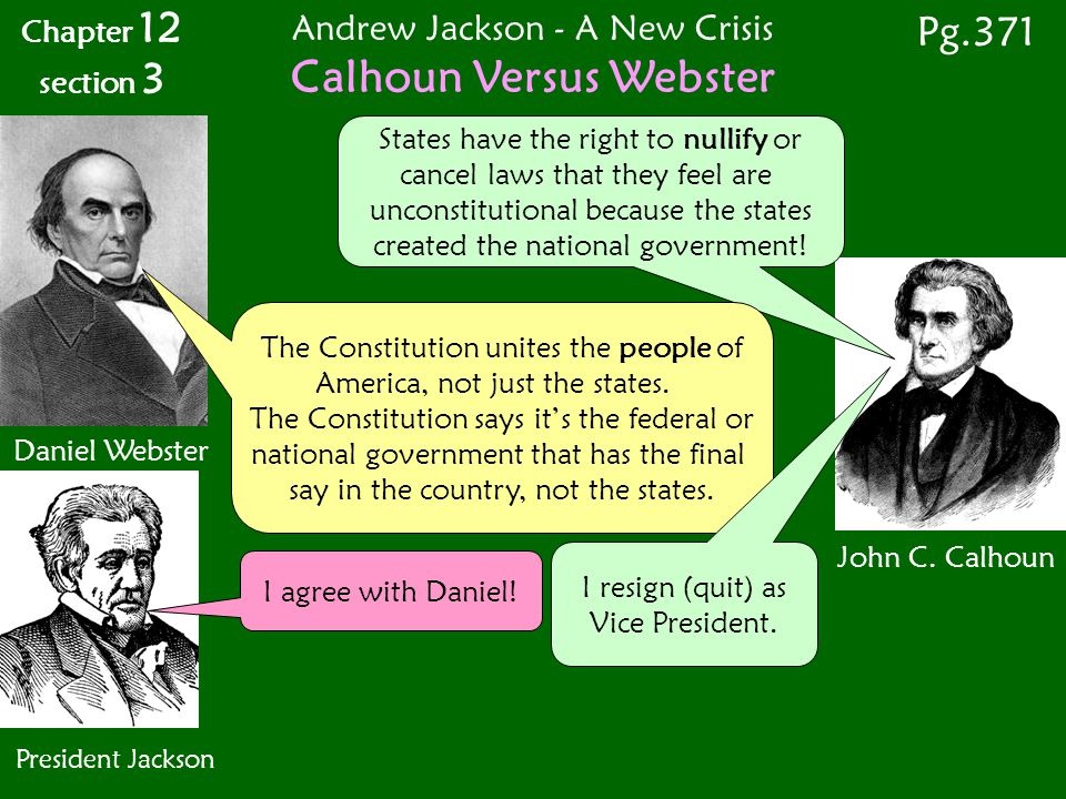 Calhoun Versus Webster