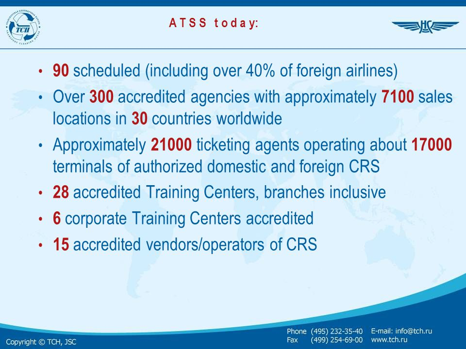 90 scheduled (including over 40% of foreign airlines)