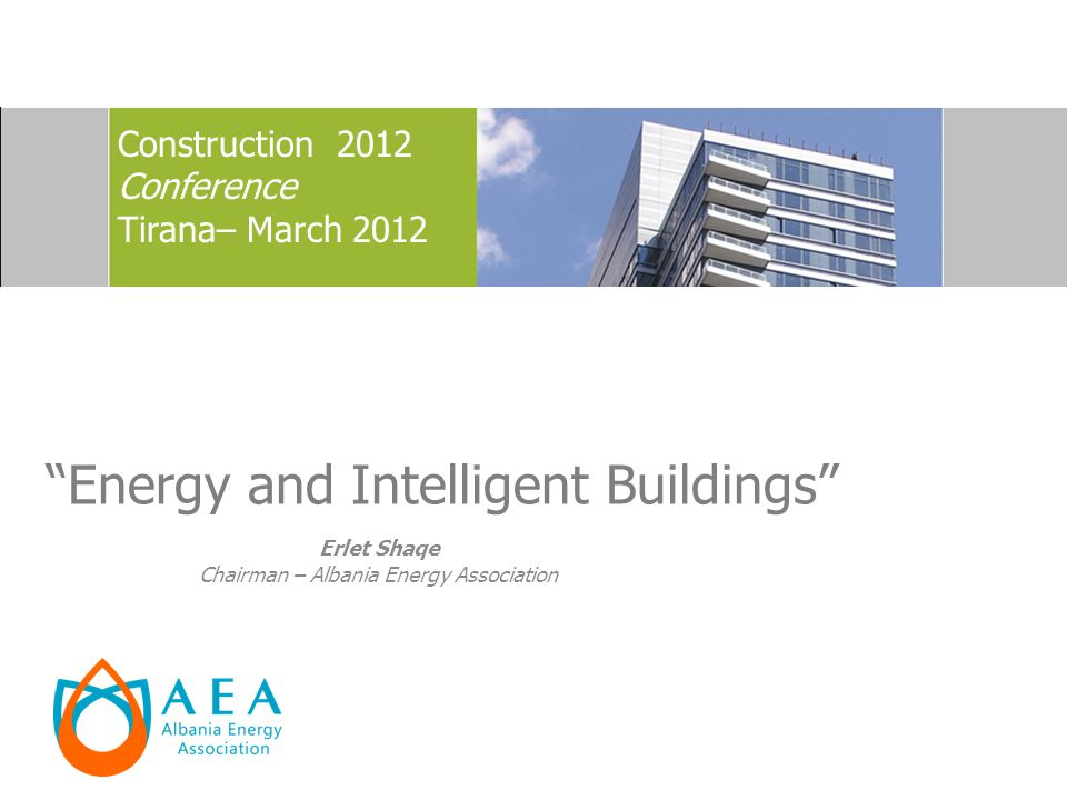 Energy and Intelligent Buildings