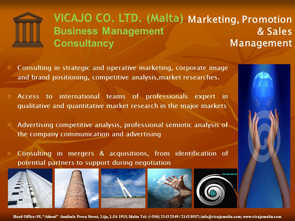 Marketing, Promotion & Sales Management