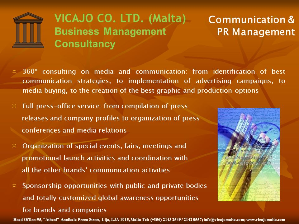 Communication & PR Management