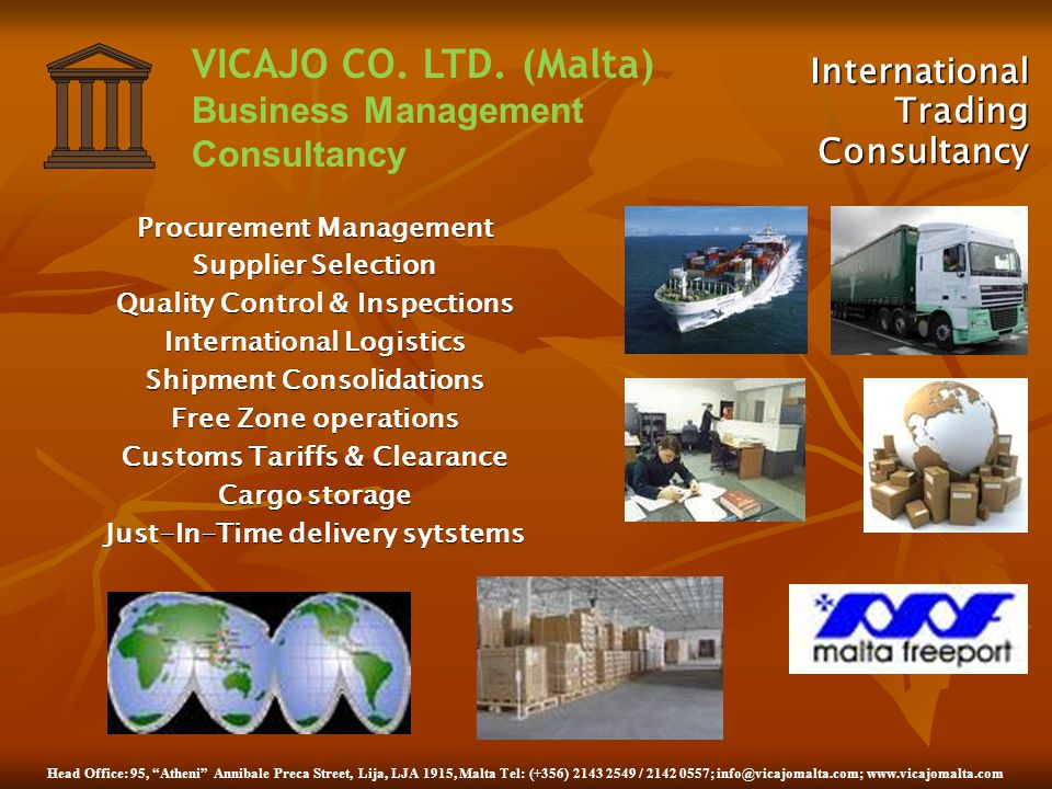 International Trading Consultancy Procurement Management