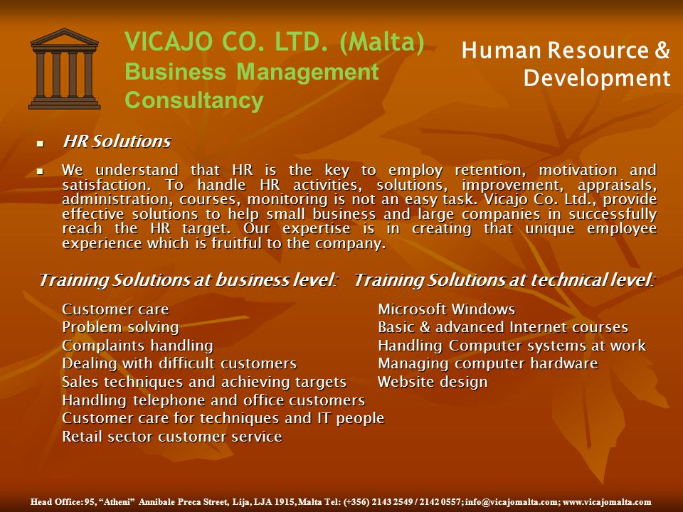 Human Resource & Development