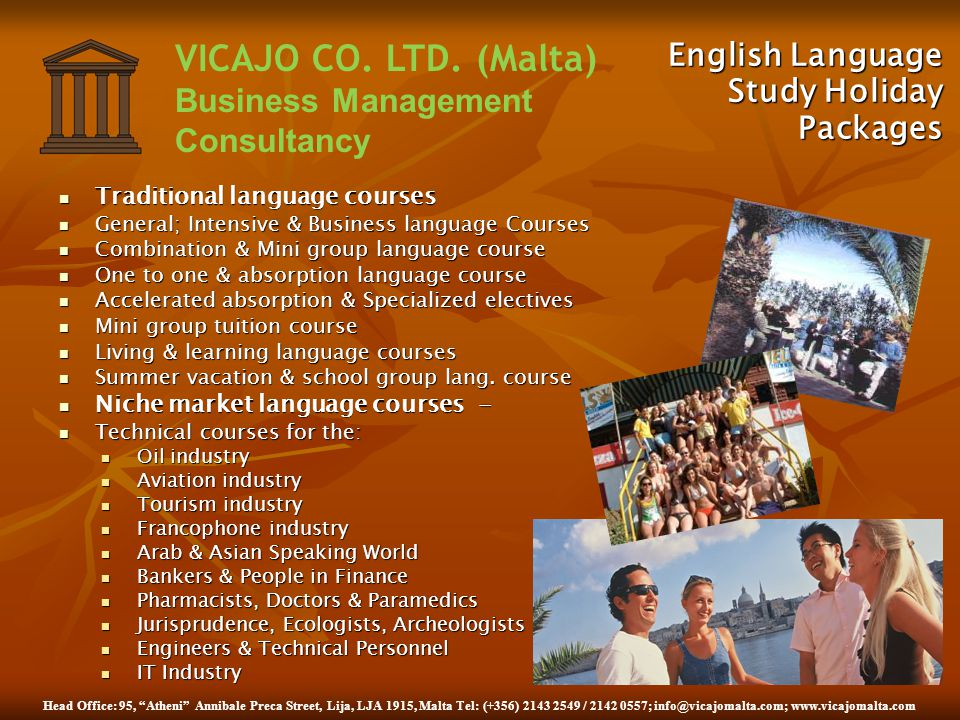 English Language Study Holiday Packages