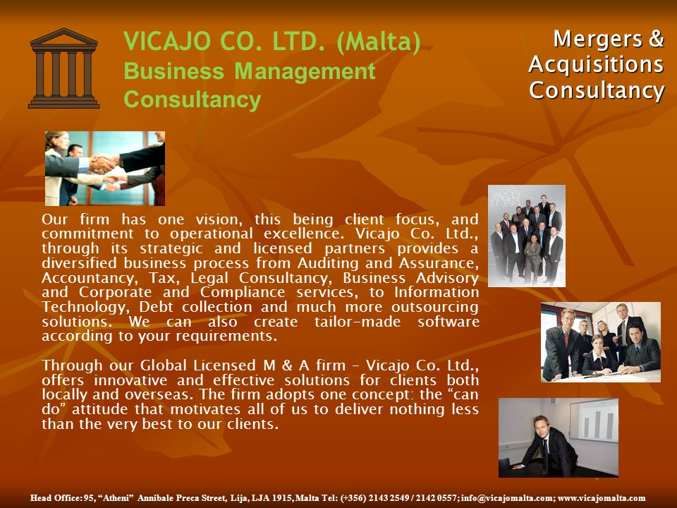 Mergers & Acquisitions Consultancy