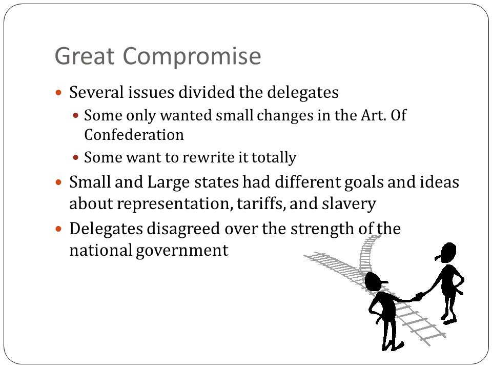 Great Compromise Several issues divided the delegates