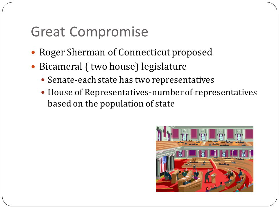 Great Compromise Roger Sherman of Connecticut proposed