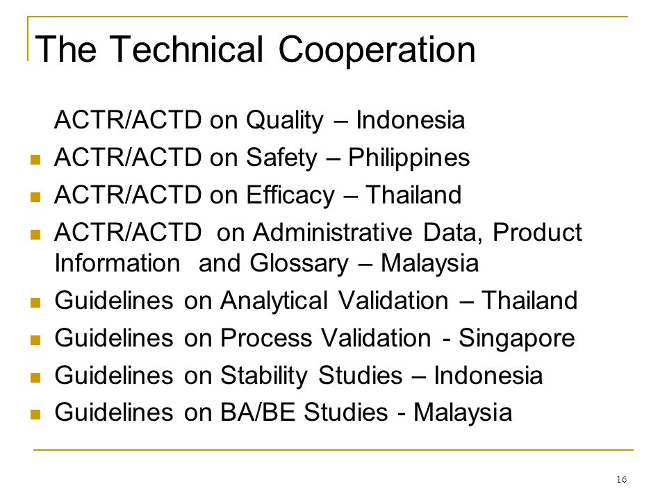 The Technical Cooperation