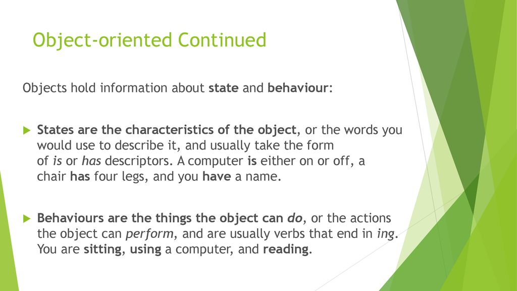 Object-oriented Continued