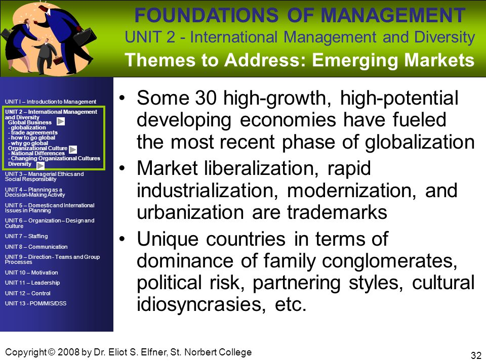 Themes to Address: Emerging Markets