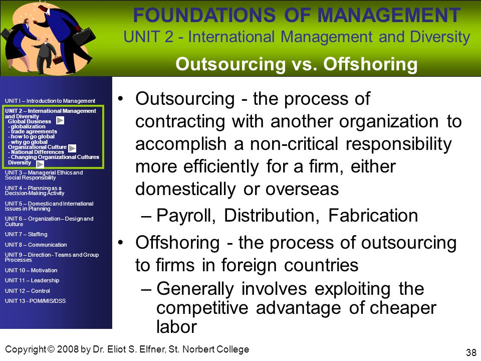 Outsourcing vs. Offshoring