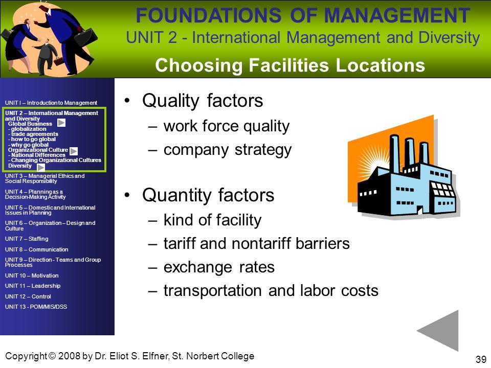 Choosing Facilities Locations