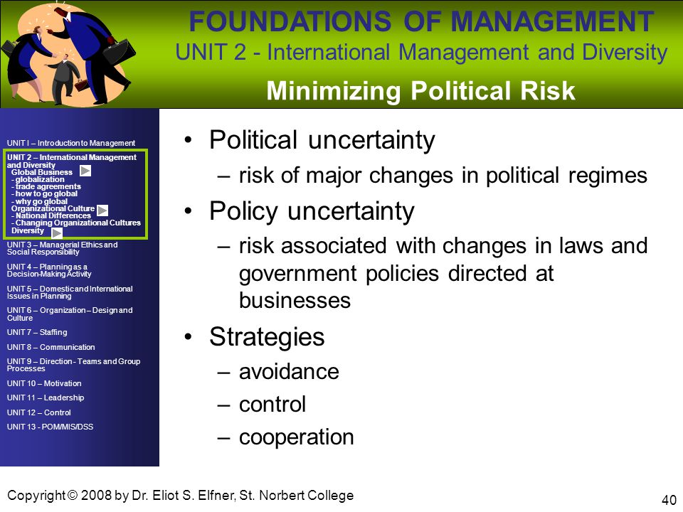 Minimizing Political Risk