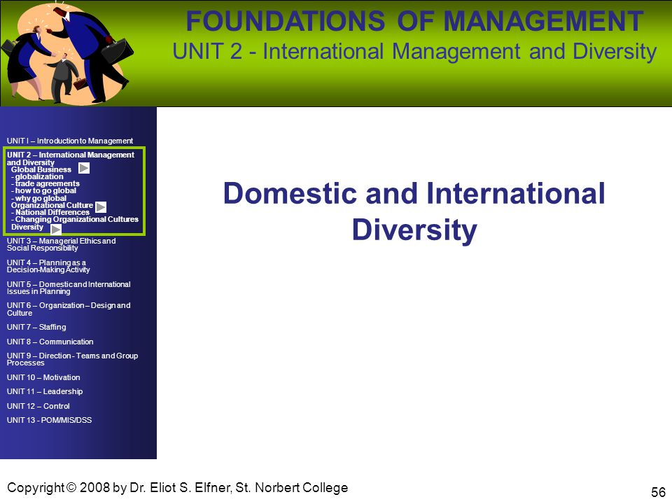 Domestic and International Diversity