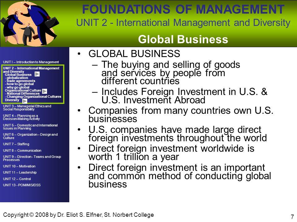Global Business GLOBAL BUSINESS