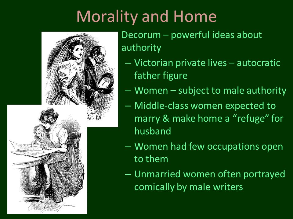 Morality and Home Decorum – powerful ideas about authority