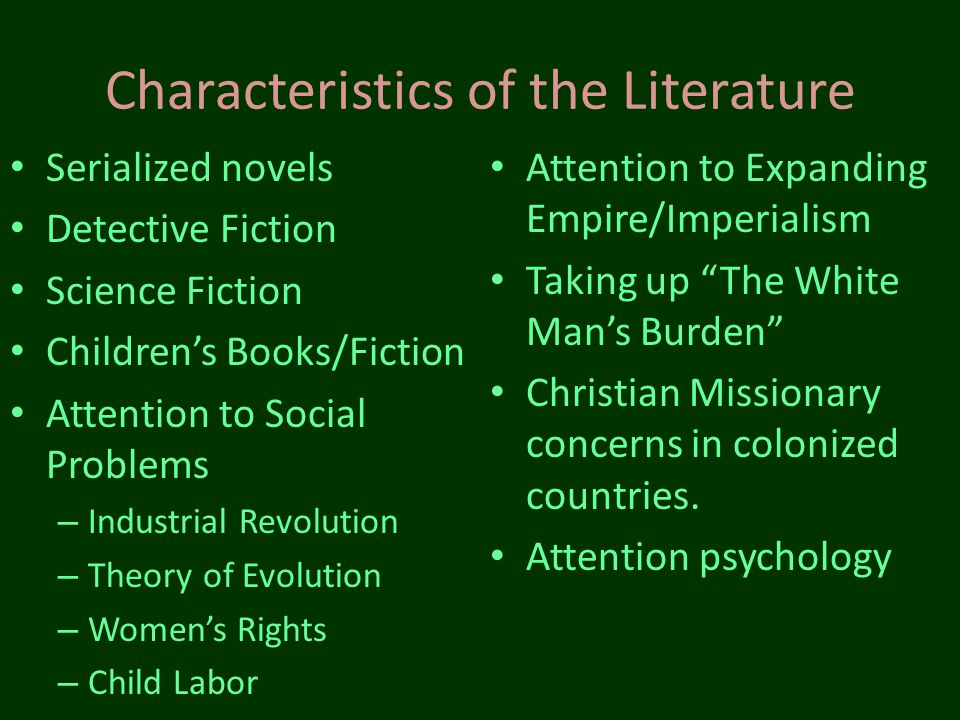 Characteristics of the Literature