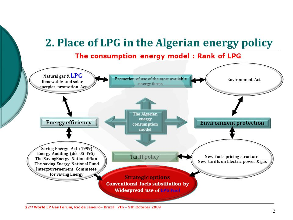 2. Place of LPG in the Algerian energy policy