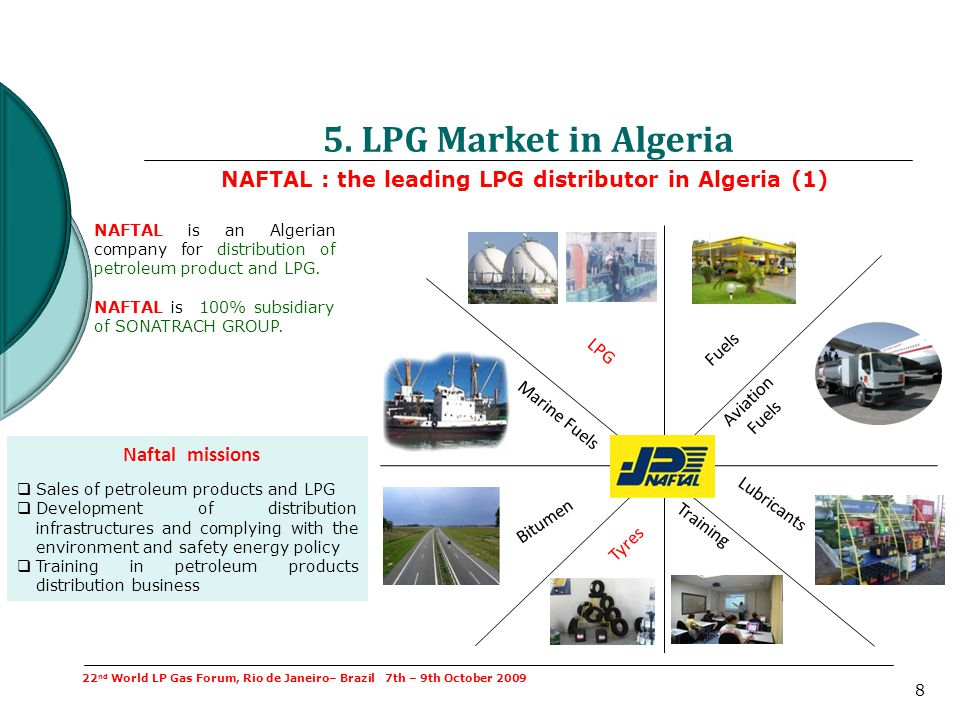 5. LPG Market in Algeria NAFTAL : the leading LPG distributor in Algeria (1)
