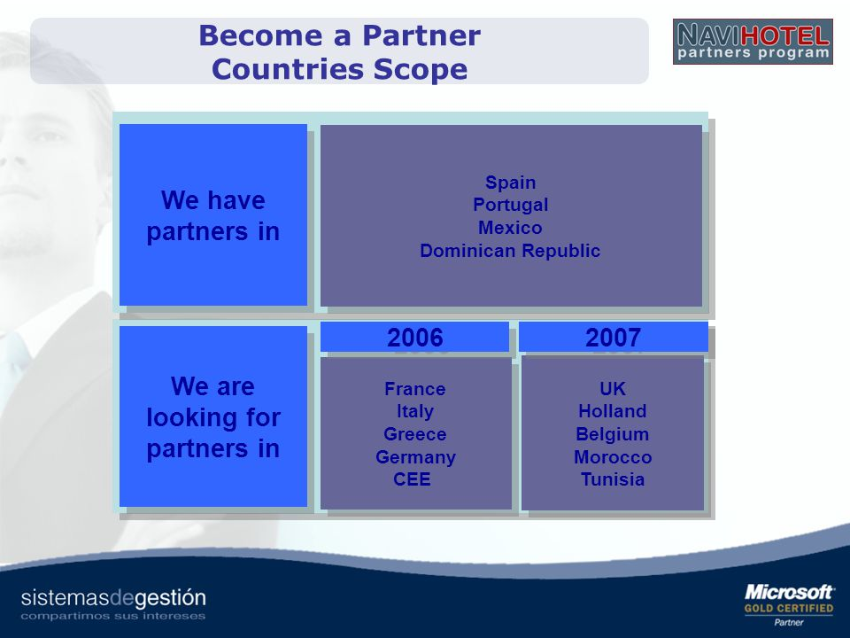 Become a Partner Countries Scope We are looking for partners in