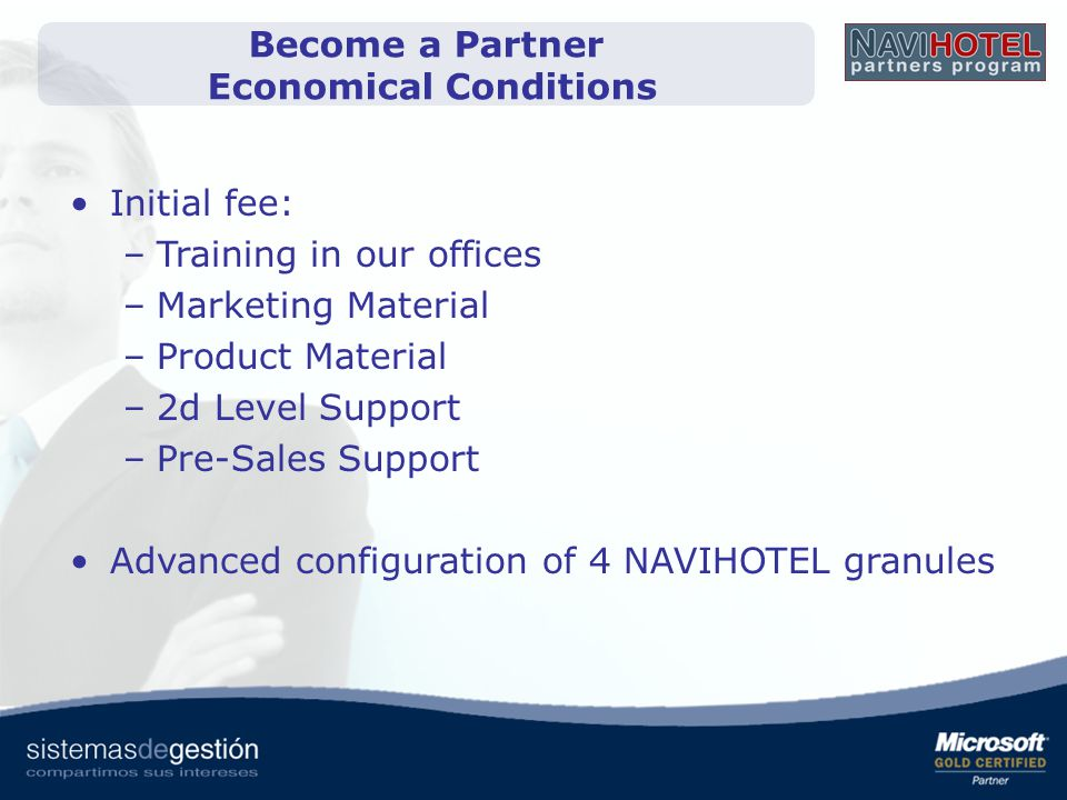 Become a Partner Economical Conditions